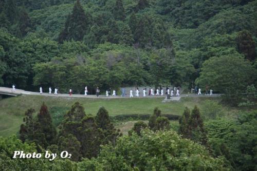 夷王山神社宵宮祭 たいまつ行列