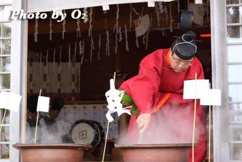 鹿部稲荷神社 本祭 松前神楽 鎮釜湯立式