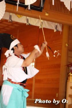 鹿部稲荷神社 本祭 松前神楽 神遊舞