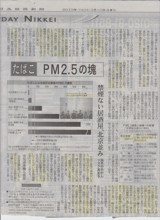 PM25とたばこ