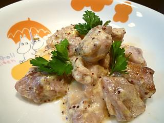 鶏もも肉の粒マスタードマヨ炒め