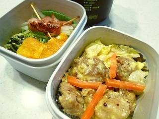 鶏もも肉の粒マスタードマヨ炒め弁当