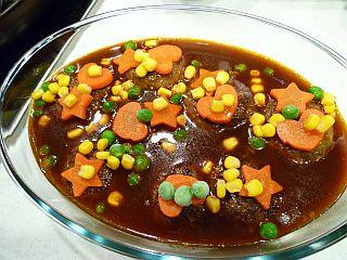 デミハンバーグとカラフル野菜のかくれんぼパイstep11
