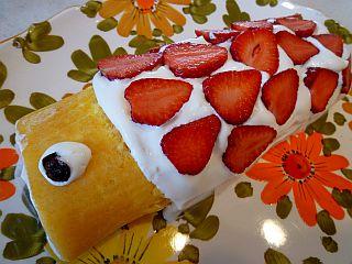 しっとり米粉ロールDEこいのぼりケーキ☆