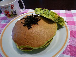 栄養満点☆水晶昆布パンケーキ