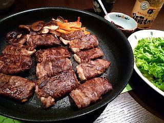 カルビ風☆高野豆腐の牛肉巻き1