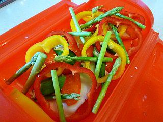 豚ポテトとカラフル野菜のミルフィーユ蒸し3