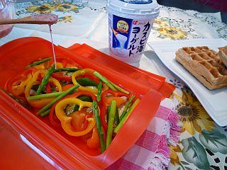 豚ポテトとカラフル野菜のミルフィーユ蒸し4