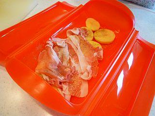 豚ポテトとカラフル野菜のミルフィーユ蒸し2