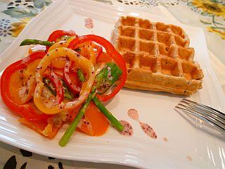 豚ポテトとカラフル野菜のミルフィーユ蒸し1