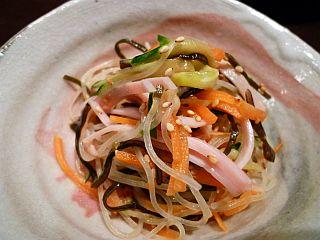 柚子コショウ風味の春雨サラダ