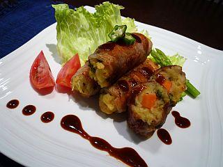 ゴーヤ好きになる!絶品カレーポテトサラダの豚肉巻き(2011)