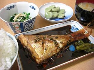 イトヨリの煮付け~実山椒風味~