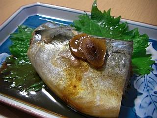 サバの大葉ニンニク醤油煮