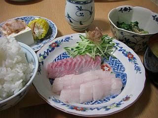 太刀魚と鯛の刺身