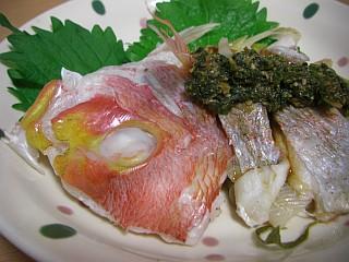 蒸し鯛の香味ソース