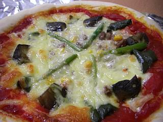 夏野菜のピッツァ