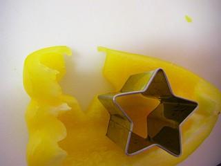 黄パプリカの型抜き2