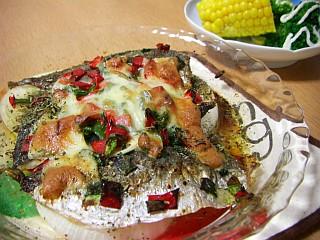 アジのオーブン焼き~ガーリックハーブ風味~