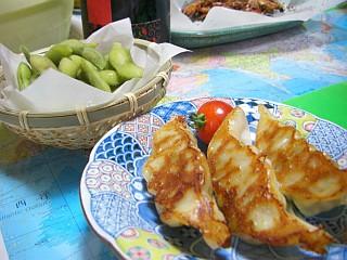 餃子と枝豆