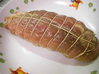 洋風焼き豚の仕込み