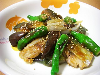 サバと夏野菜のわさびオイスター炒め