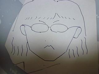 義兄が描いた私の似顔絵