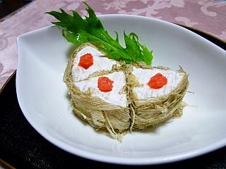 カマンベールチーズのめんたい昆布巻き2