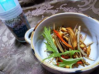 高野豆腐とシャキシャキ根菜のハーブきんぴら