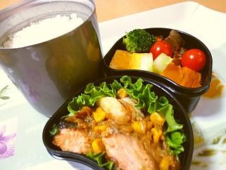 鮭と長芋の香ばしソテーのお弁当