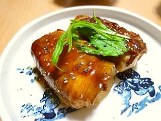 ひと口SOY☆ポークステーキのピリ辛照り焼き