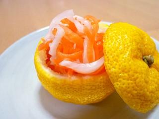 柚子釜の紅白なます