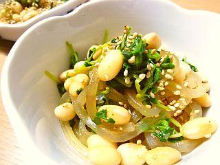 大豆とくずきりの中華風酢の物