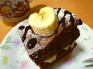 ブラウニーとバナナ