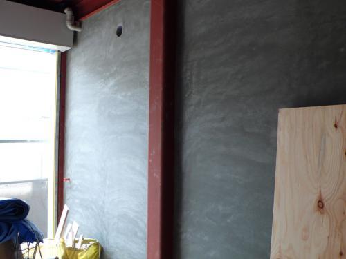 自宅ガレージ壁