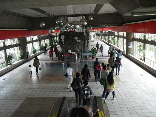 12 MRT・新北投駅構内