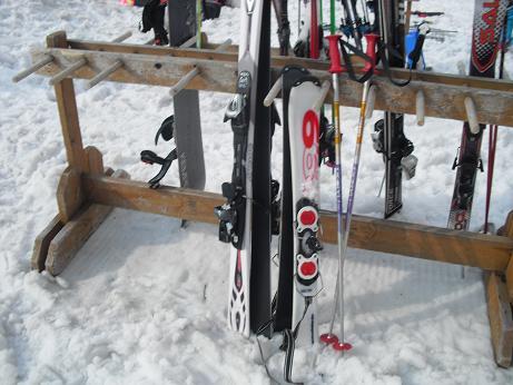 9 私のストックより短いスキー板