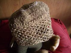 ネット編み帽