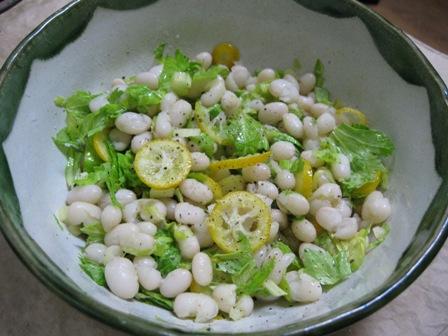 手亡豆と金柑のサラダ