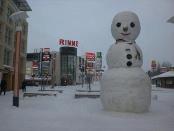フィンランドの雪だるま