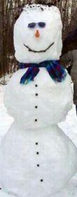カナダの雪だるま