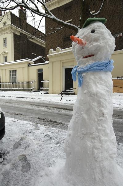 ロンドンの雪だるま