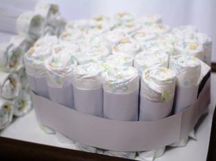 ケーキ段詰めたところ