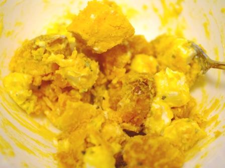 かぼちゃとクリームチーズの簡単おつまみサラダ01
