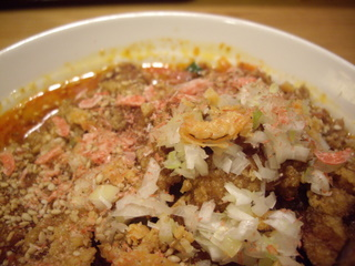 かつぎや 排骨担々麺(桜エビ干しエビ)