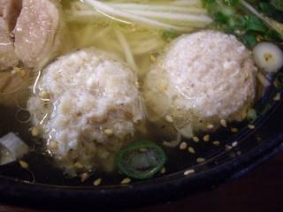 麺処亀家 地鶏そば (鶏つくね)