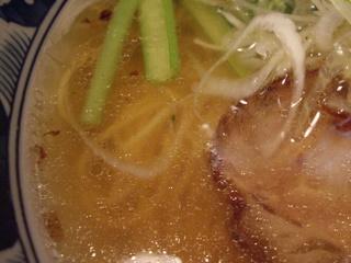 麺創房玄 五反田本店 伝説の塩 塩らーめん(スープ)