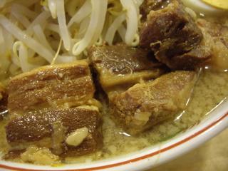 サブ郎ラーメン ラーメンふと麺+角煮大盛(角煮)