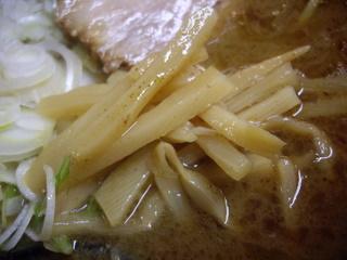 麺処としき 濃厚豚骨魚介中華そば(メンマ)