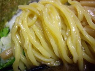 麺処としき 濃厚豚骨魚介中華そば(麺)